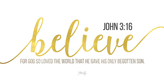 Marla Rae MAZ5120GP - Believe John 3:16 - Believe, Religious, Inspirational, Signs, Gold from Penny Lane Publishing