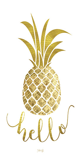 Marla Rae MAZ5126GP - Hello Pineapple - Pineapple, Hello, Gold, Signs from Penny Lane Publishing