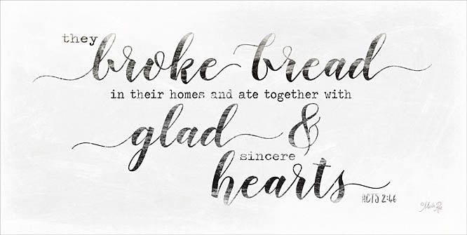 Marla Rae MAZ5134 - They Broke Bread (large font) - Inspirational, Signs, Religious from Penny Lane Publishing