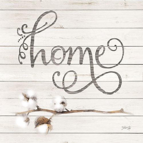 Marla Rae MAZ5145GP - Simple Words - Home with Cotton - Home, Calligraphy, Cotton, Wood Slates from Penny Lane Publishing