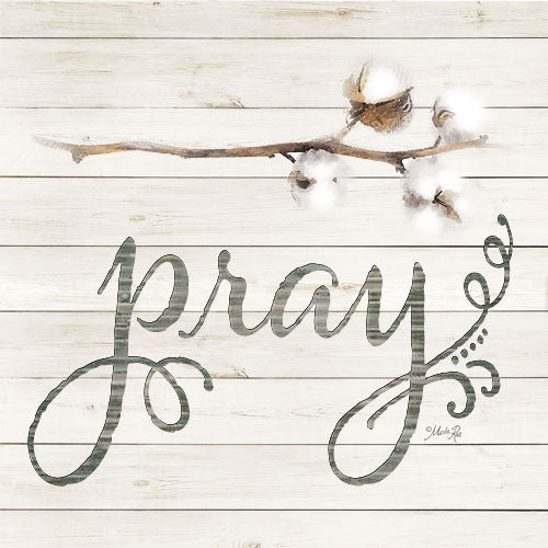 Marla Rae MAZ5146 - Simple Words - Pray with Cotton - Pray, Calligraphy, Cotton, Wood Slates from Penny Lane Publishing