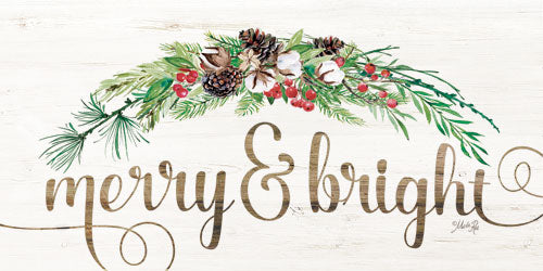 Marla Rae MAZ5150GP - Merry & Bright - Holiday, Greenery, Pine Cones, Berries, Signs from Penny Lane Publishing