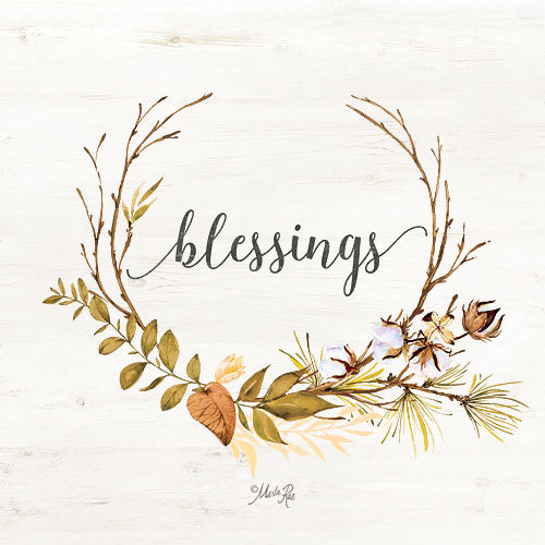 Marla Rae MAZ5152 - Blessings - Blessings, Autumn, Leaves, Cotton from Penny Lane Publishing