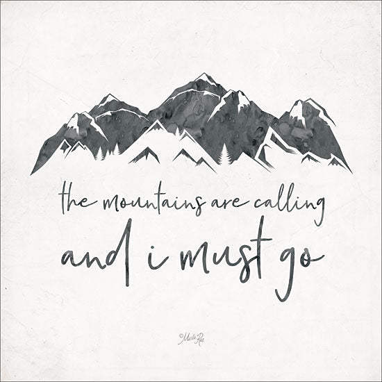 Marla Rae MAZ5157GP - The Mountains are Calling - Mountains, Signs from Penny Lane Publishing