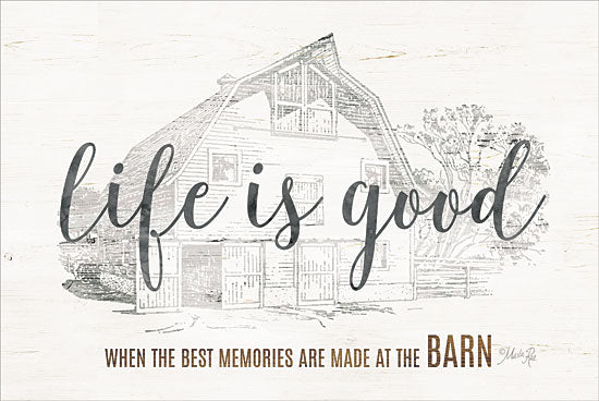 Marla Rae MAZ5161GP - Life is Good at the Barn - Life is Good, Barn, Sketches, Farm from Penny Lane Publishing
