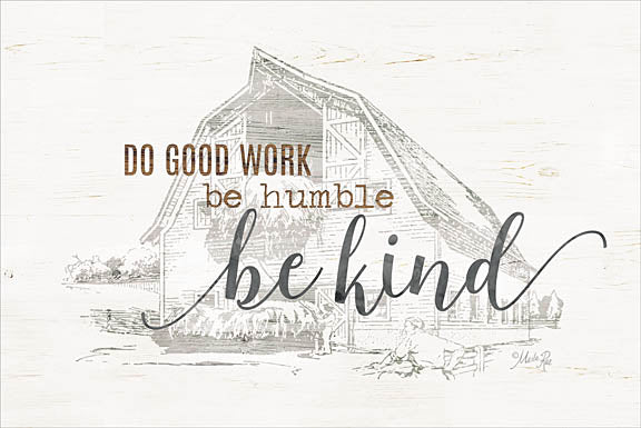 Marla Rae MAZ5162 - Do Good Work Barn - Be Kind, Barn, Sketches, Farm from Penny Lane Publishing