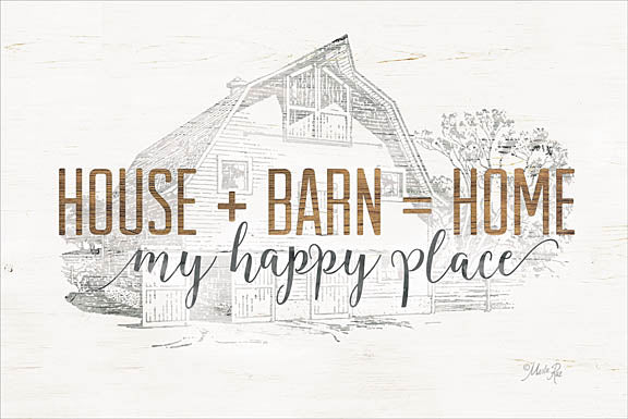 Marla Rae MAZ5163 - House + Barn = Home - House, Barn, Home, Farm, Sketches from Penny Lane Publishing