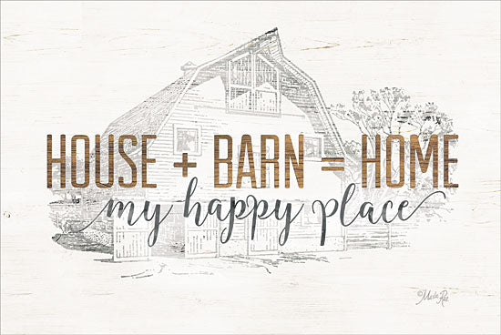 Marla Rae MAZ5163GP - House + Barn = Home - House, Barn, Home, Farm, Sketches from Penny Lane Publishing