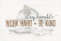 MAZ5164 - Work Hard + Be Kind - 18x12