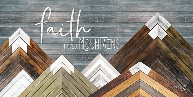 Marla Rae MAZ5169 - Faith Moves Mountains - Mountains, Wood Inlay, Neutral, Faith from Penny Lane Publishing