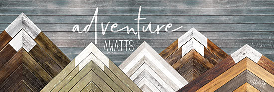 Marla Rae MAZ5170GP - Adventure Awaits - Mountains, Wood Inlay, Neutral, Adventure from Penny Lane Publishing