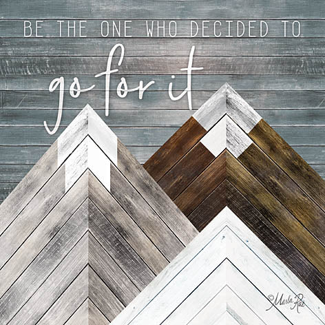 Marla Rae MAZ5172 - Go For It - Mountains, Wood Inlay, Neutral from Penny Lane Publishing