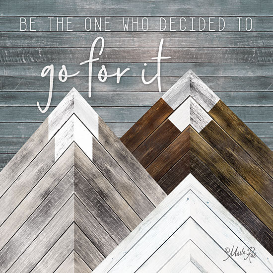 Marla Rae MAZ5172GP - Go For It - Mountains, Wood Inlay, Neutral from Penny Lane Publishing