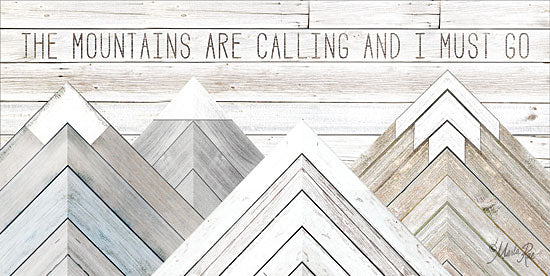 Marla Rae MAZ5173GP - The Mountains are Calling and I Must Go - Mountains, Wood Inlay, Neutral from Penny Lane Publishing