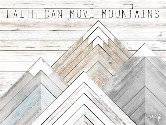 Marla Rae MAZ5174 - Faith Can Move Mountains - Mountains, Wood Inlay, Neutral, Faith from Penny Lane Publishing