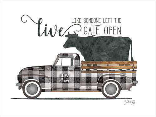 Marla Rae MAZ5190GP - Live Like Vintage Truck - Cow, Truck, Plaid, Signs, Encouraging from Penny Lane Publishing