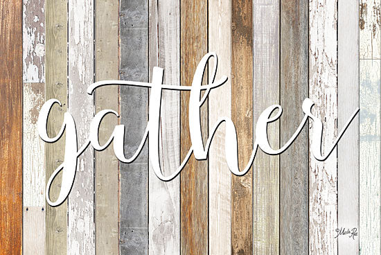 Marla Rae MAZ5193GP - Gather - Gather, Wood Planks Signs from Penny Lane Publishing