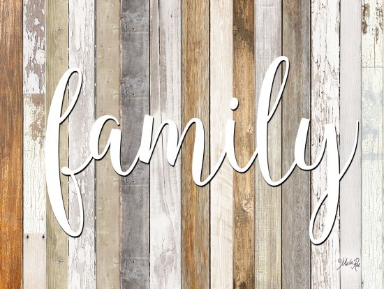 Marla Rae MAZ5194GP - Family - Family, Wood Planks, Calligraphy from Penny Lane Publishing