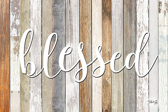 Marla Rae MAZ5195GP- Blessed - Blessed, Wood Planks, Signs from Penny Lane Publishing