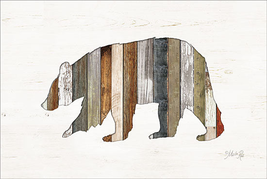 Marla Rae MAZ5202GP - Wood Slat Bear - Bear, Wood Planks from Penny Lane Publishing