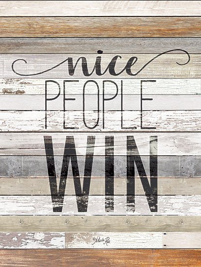 Marla Rae MAZ5204GP - Nice People Win - Win, Typography, Wood Planks from Penny Lane Publishing