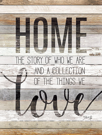 Marla Rae MAZ5205GP - Home Story - Home, Love, Typography, Wood Planks from Penny Lane Publishing
