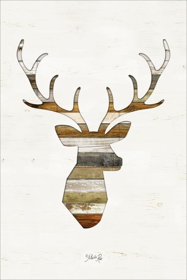 Marla Rae MAZ5211GP - Wood Slat Deer - Wood Slats, Deer, Silhouette from Penny Lane Publishing