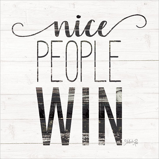 Marla Rae MAZ5213GP - Nice People Win - Wood Slats, Win, Signs from Penny Lane Publishing