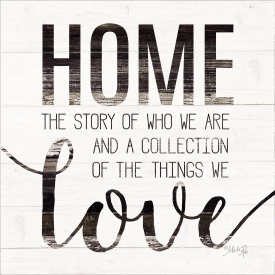 Marla Rae MAZ5214GP - Home Story - Home, Wood Slats, Love, Signs from Penny Lane Publishing