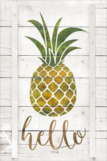 Marla Rae MAZ5221GP - Hello Pineapple - Hello, Pineapple, Wood Planks from Penny Lane Publishing