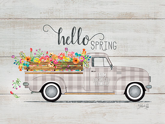 Marla Rae MAZ5250GP - Hello Spring Vintage Truck - Truck, Flowers, Spring, Hello from Penny Lane Publishing