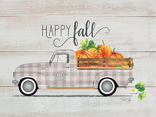 Marla Rae MAZ5251GP - Happy Fall Vintage Truck - Truck, Flowers, Fall, Happy from Penny Lane Publishing