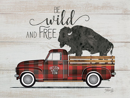 Marla Rae MAZ5252GP - Wild and Free Vintage Truck - Truck, Buffalo, Plaid, Wild & Free from Penny Lane Publishing