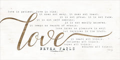 MAZ5256 - Love Never Fails - 18x9