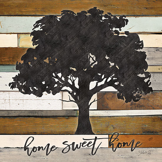 Marla Rae MAZ5274 - Home Sweet Home  Home Sweet Home, Tree, Wood Planks from Penny Lane
