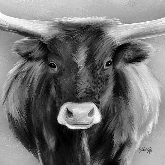 Marla Rae MAZ5298 - Tank  Longhorn, Steer, Farm, Black & White from Penny Lane