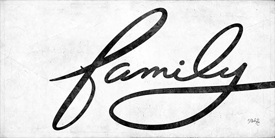Marla Rae MAZ5303 - Family Family, Calligraphy, Signs, Black & White from Penny Lane