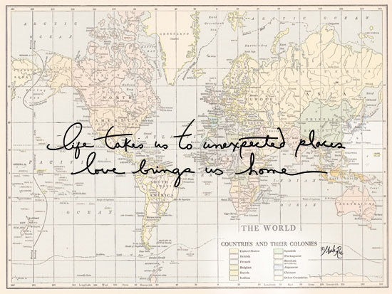 Marla Rae MAZ5320 - Unexpected Places Home, Adventure, Travel, Map, Signs from Penny Lane