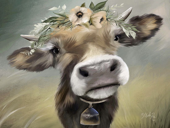 Marla Rae MAZ5321 - Moomoo Cow, Cowbell, Flowers, Portrait, Farm from Penny Lane