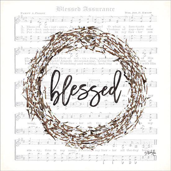 Marla Rae MAZ5335 - Blessed Assurance Bless Wreath Blessed, Wreath, Cotton, Sheet Music, Music from Penny Lane