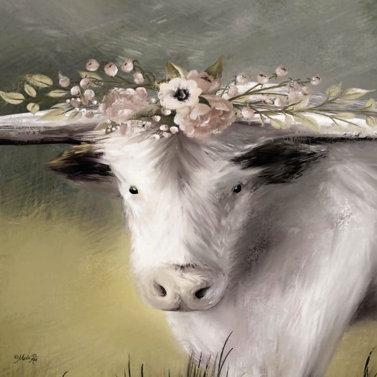 Marla Rae MAZ5345 - Minnie Portrait  Cow, Floral Crown, Flowers, Portrait, Selfie from Penny Lane