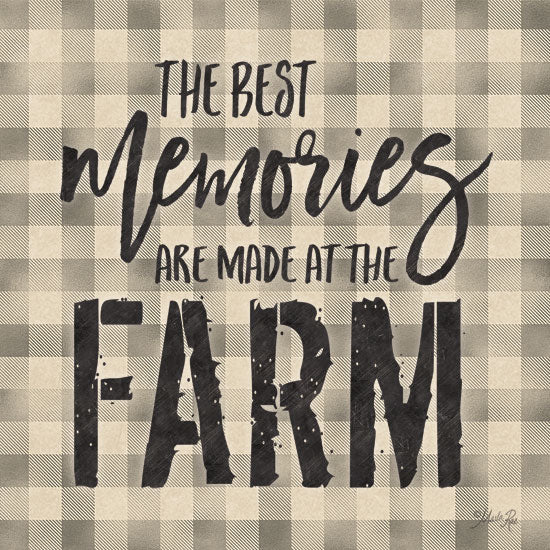 Marla Rae MAZ5346 - Best Memories Farm, Plaid, Brown and White, Memories, Calligraphy, Signs from Penny Lane