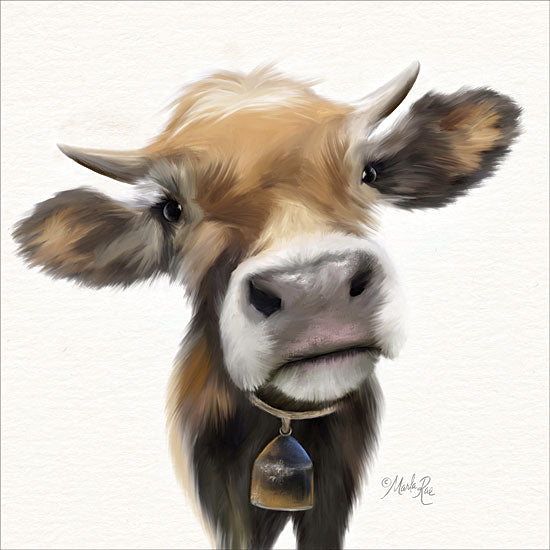 Marla Rae MAZ5353 - Little Moomoo Cow, Calf, Baby, Cowbell, Portrait, Selfie from Penny Lane