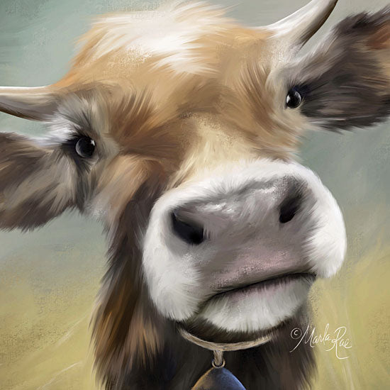 Marla Rae MAZ5362 - Up Close Moomoo - 12x12 Cow, Portrait, Selfie, Farm from Penny Lane