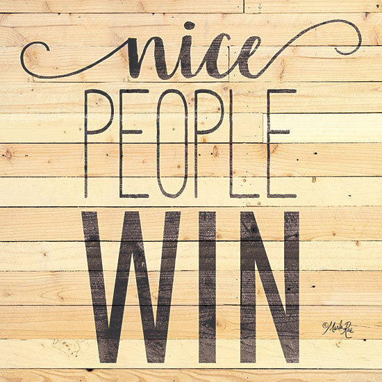 Marla Rae MAZ5547 - MAZ5547 - Nice People Win - 12x12 Nice People Win, Motivational, Signs from Penny Lane
