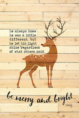 MAZ5553 - Be Merry and Bright Deer - 12x18