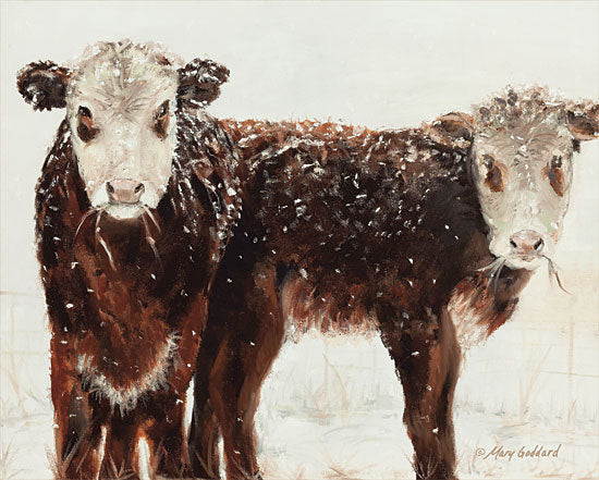 Mary Goddard MG100 - Winter and Wonder Cows, Snow, Winter, Farm, Portrait from Penny Lane