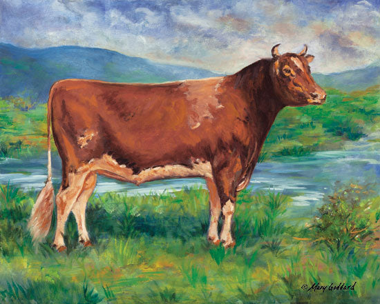 Mary Goddard MG101 - The Prize Bull Bull, Cow, Field, Farm, Portrait from Penny Lane