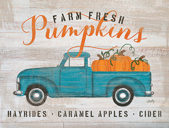 Misty Michelle MMD370 - MMD370 - Blue Truck Pumpkin Patch     - 16x12 Pumpkins, Truck, Autumn, Farm, Advertisement from Penny Lane