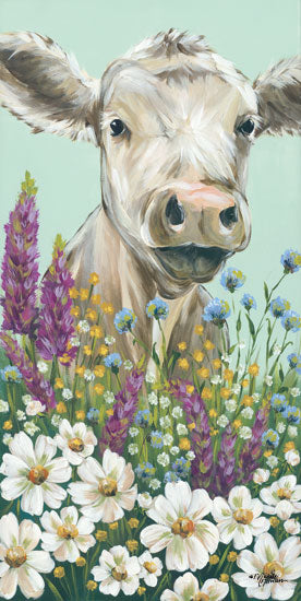 Michele Norman MN100 - Field Day Hide & Seek Cow, Wildflowers, Field, Triptych from Penny Lane